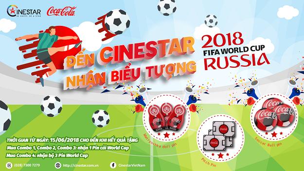 CÙNG CINESTAR NHẬN BIỂU TƯỢNG WORLD CUP