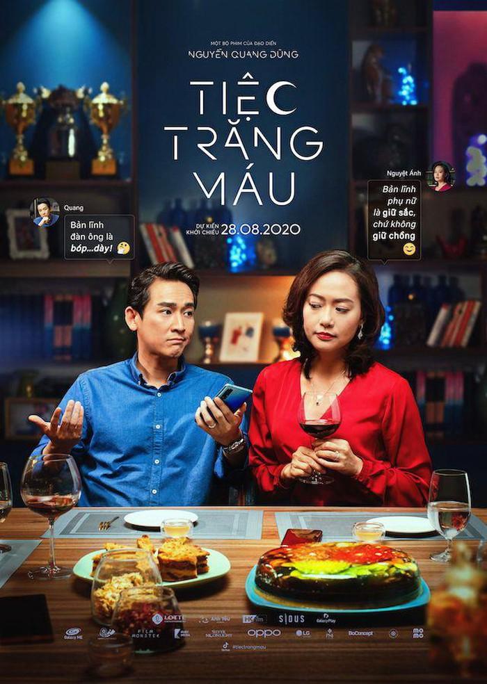 Tiệc Trăng Máu tung poster dàn diễn viên đình đám với nhiều biểu cảm đắt giá